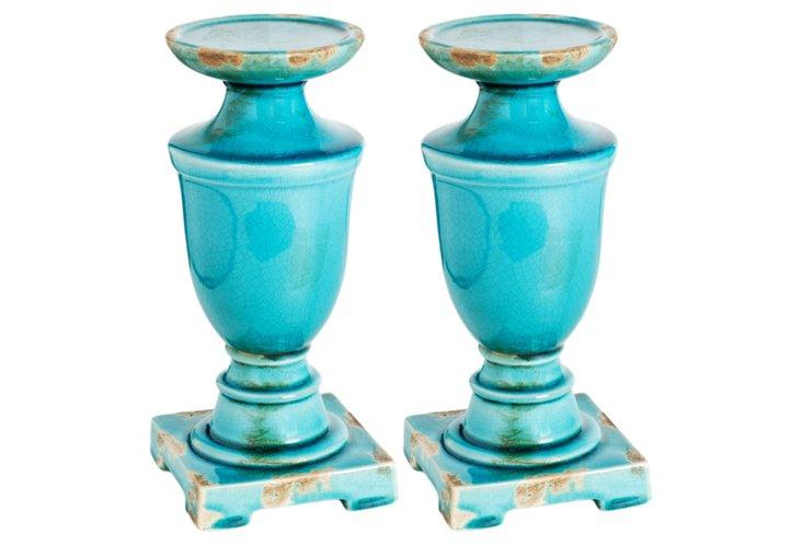 Blue Candleholder, Small