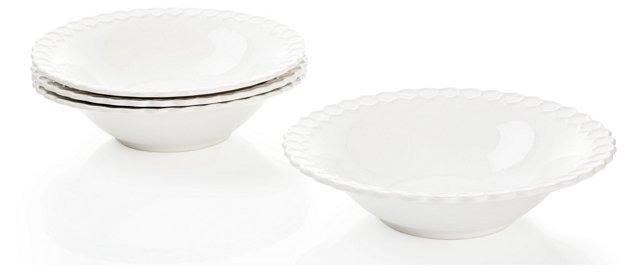 S/4 Porcelain Bee Pasta Bowls