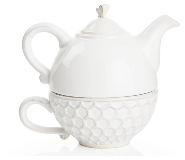 Porcelain Bee Teapot Set