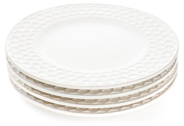 S/4 Porcelain Bee Dinner Plates