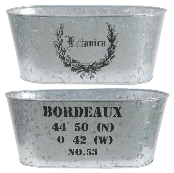 """5"""" Bordeaux Planters, Asst. of 2"""