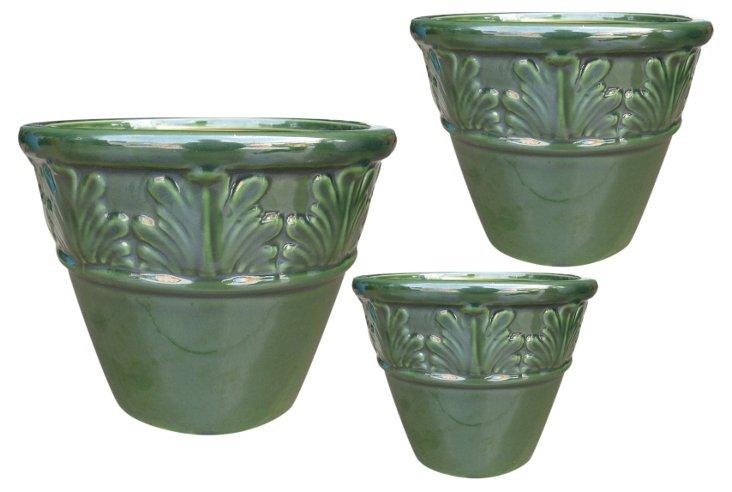 S/3 Terracotta Pots, Small