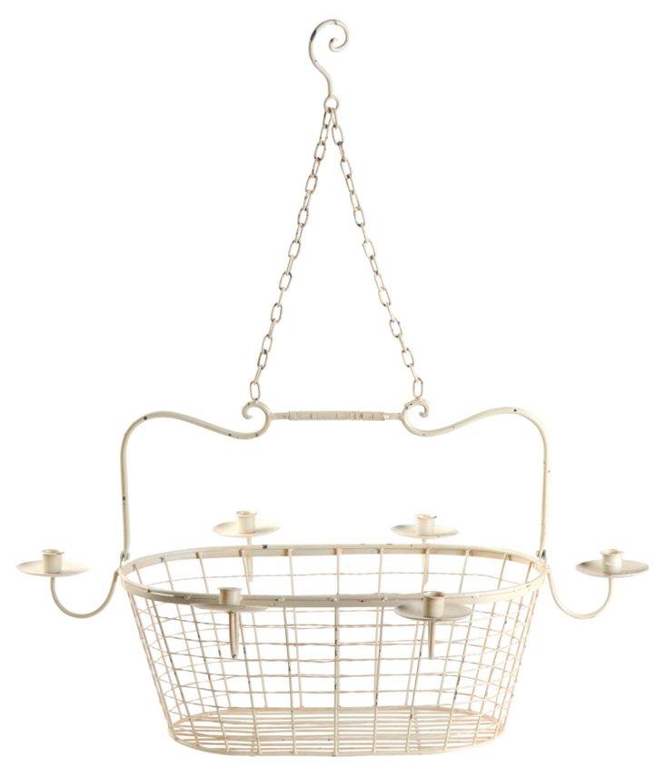 Rustic Candleholder Basket