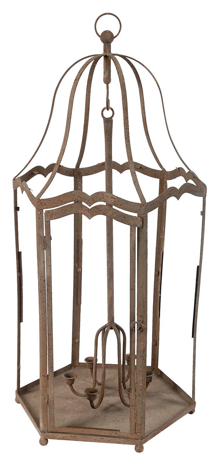 """35"""" Candelabra Lantern, Brown"""
