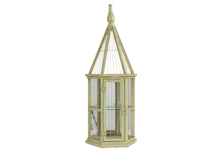 Mirrored Birdcage, Green