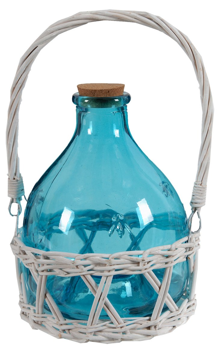 Country Side Vase, Blue