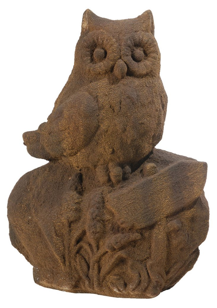 "19"" Owl on Garden Rock"