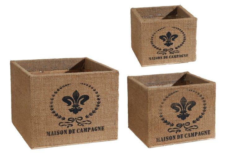 Maison Planters, Asst. of 3