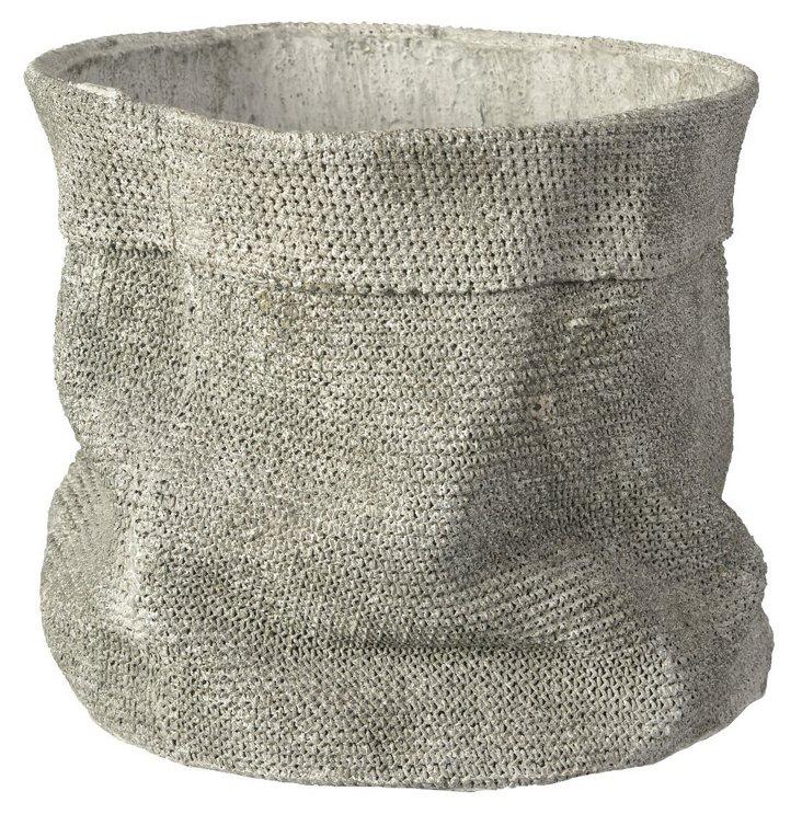 Satchel Planter, Cement
