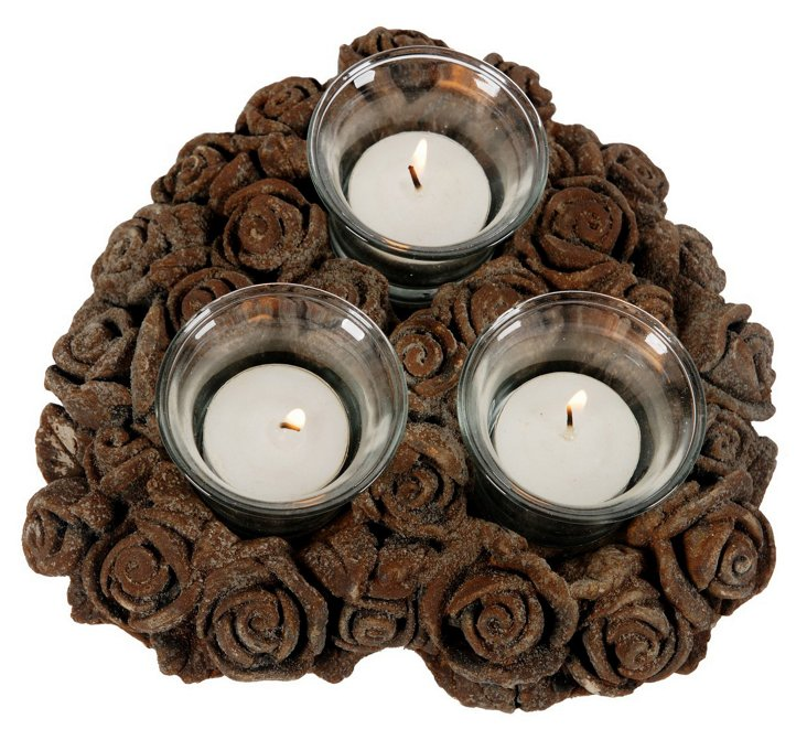 Roses 3-Tea-Light Holder