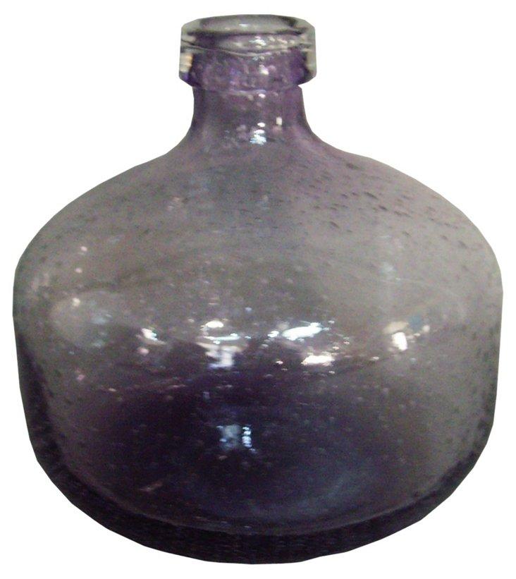 """9"""" Glass Vase, Violet"""