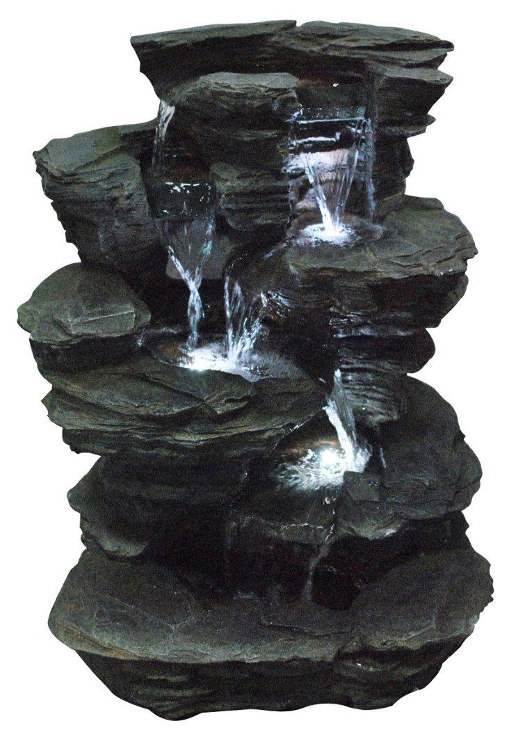 "24"" Slate Pile Fountain"