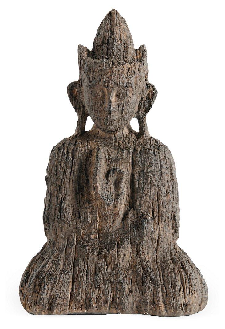 "10"" Buddha Figurine, Brown"