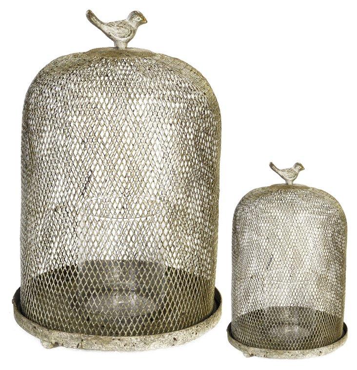 Mesh Dome Bird Candleholder, Asst. of 2
