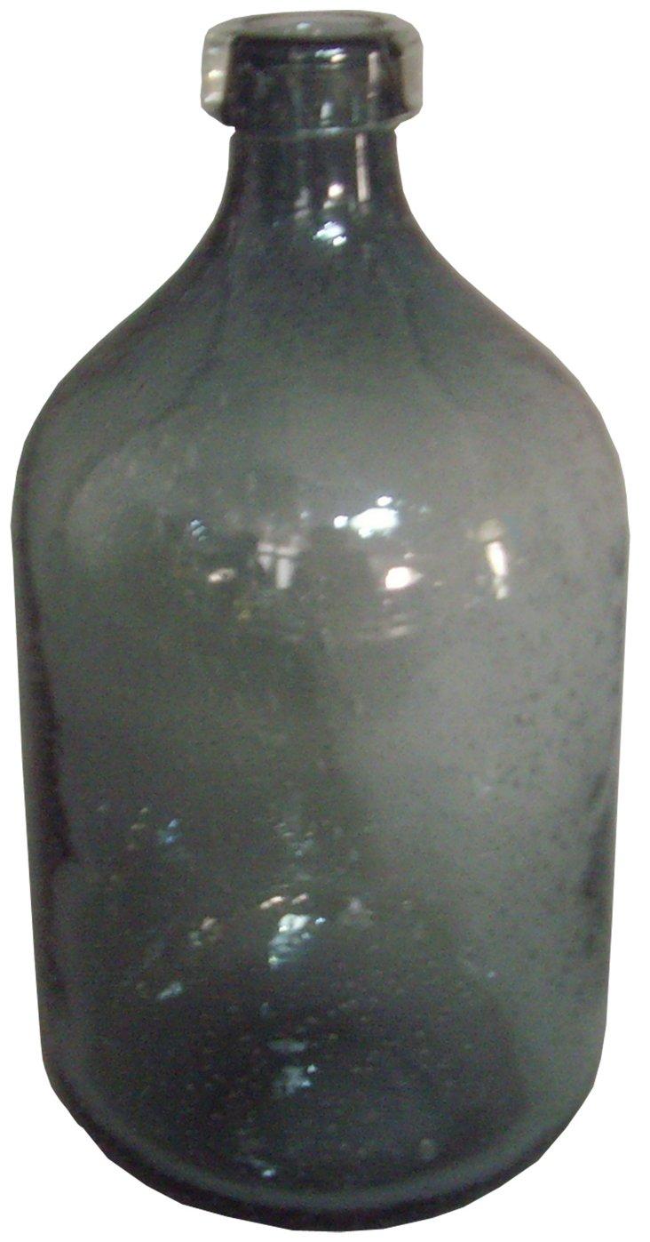 "13"" Glass Vase, Gray"