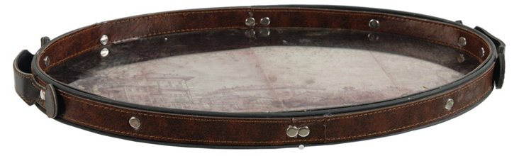 Leather-Lined Tray