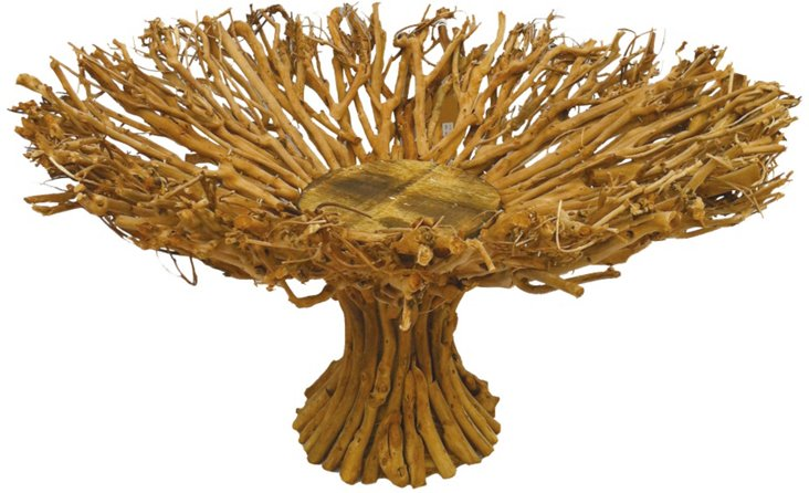 """18"""" Forest Twig Tray, Brown"""