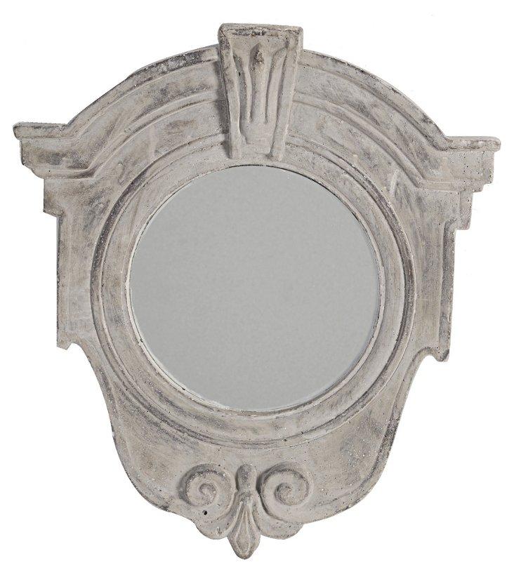 Maude Accent Mirror, Gray
