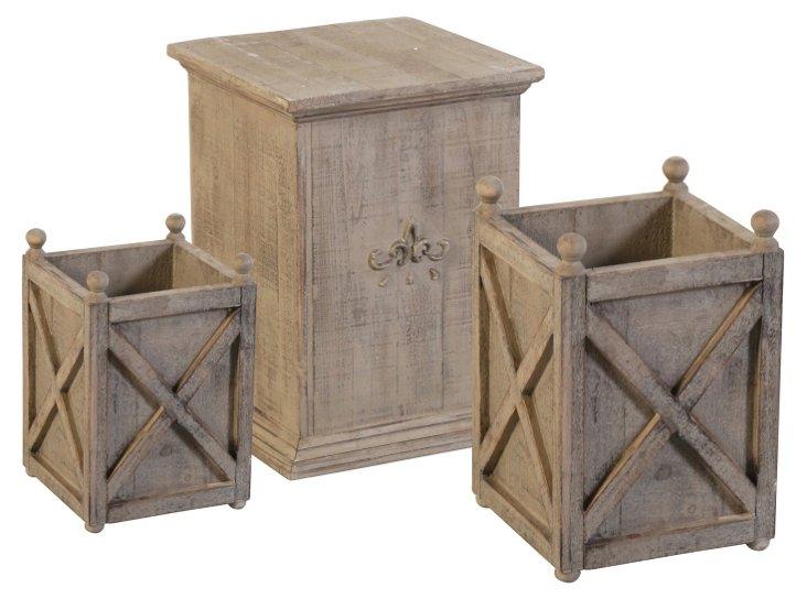 Asst. of 3 Rustic Pedestals