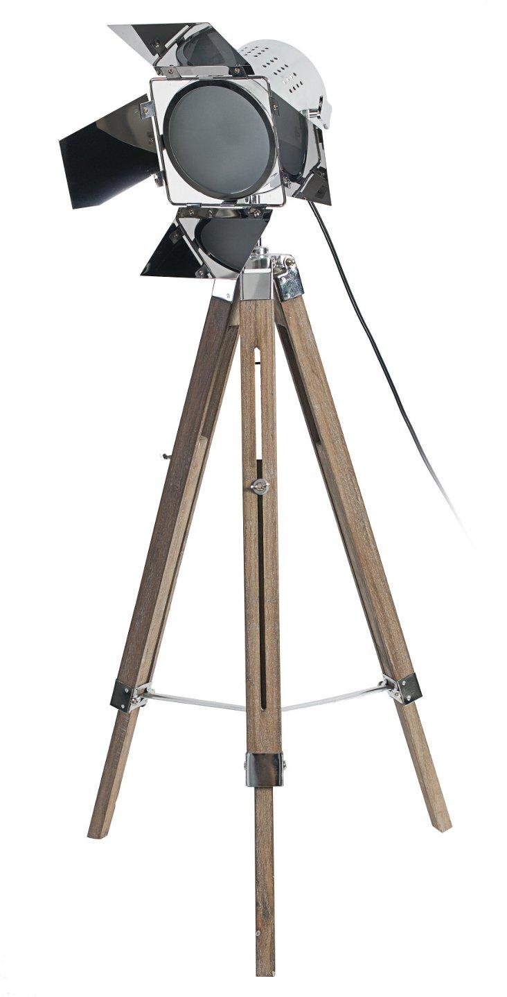 Douglas Tripod Floor Lamp, Natural Wood