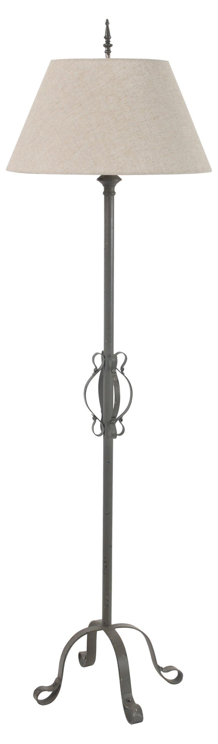 Benton Floor Lamp, Gray