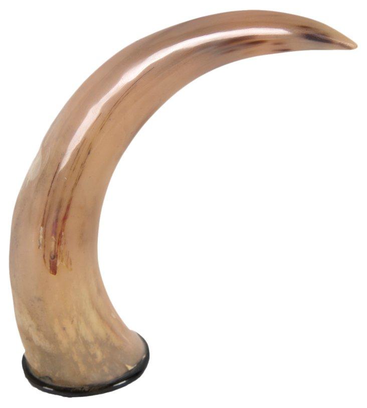 """12"""" Natural Horn Decor, Tan"""
