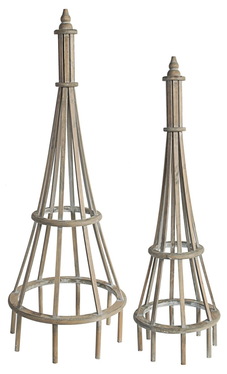 Asst. of 2 Finial Plant Stands