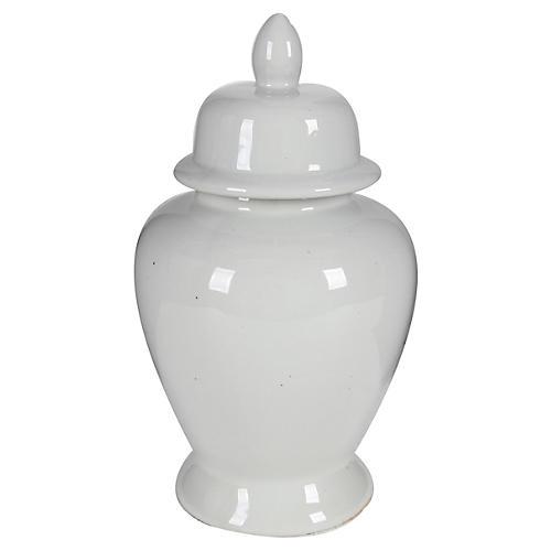"""17"""" Ginger Jar, White"""