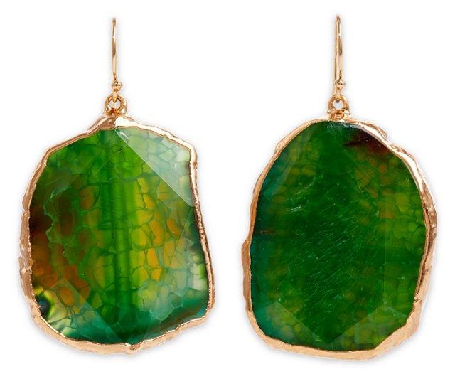 Green Agate Delphine Earrings