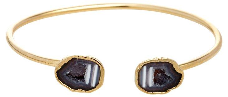 Gray Petite Geode Cuff Bracelet