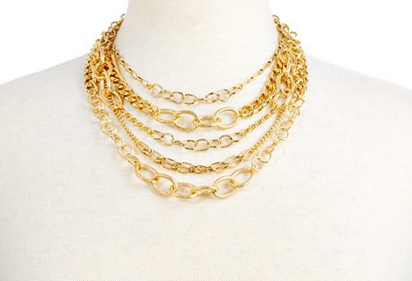 Gold Biba Necklace