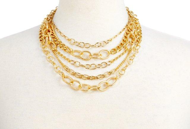 Gold Biba Necklace