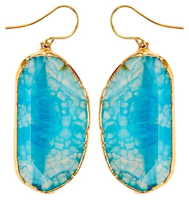 Blue Fire Agate Delphine Earrings
