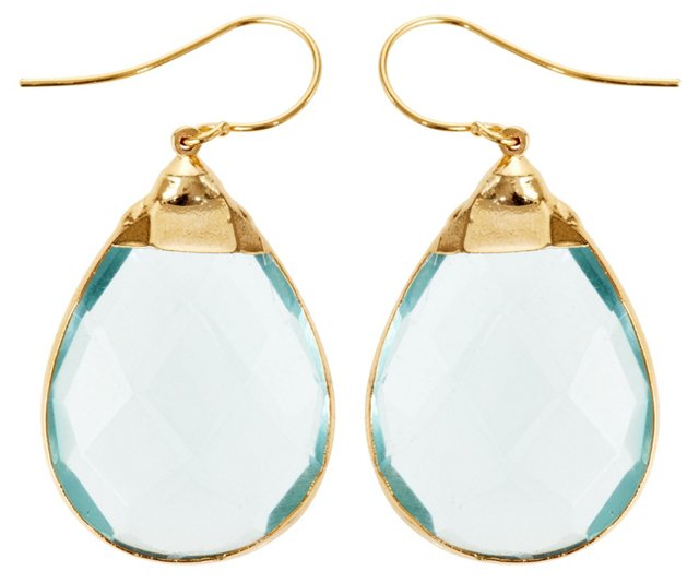 Light Blue Quartz Sarotte Earrings