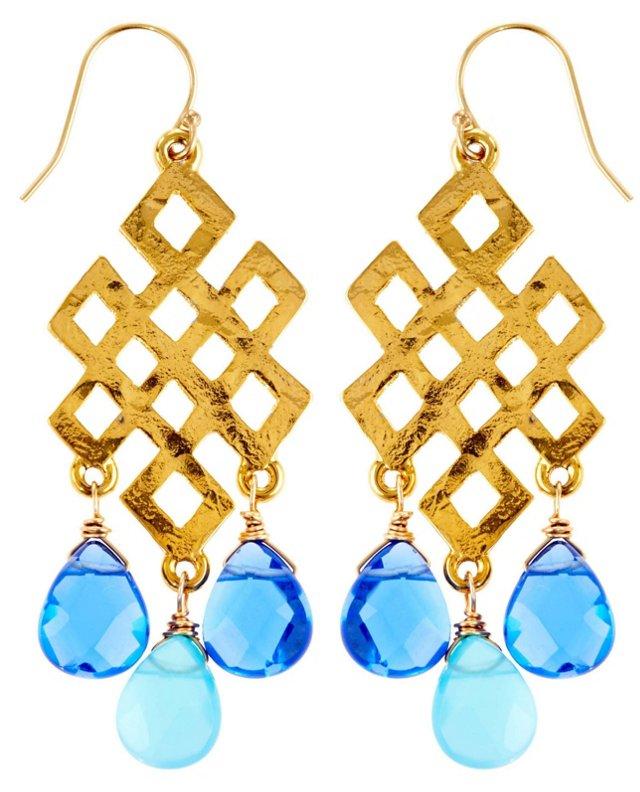 Mix Milena Earrings, Blue