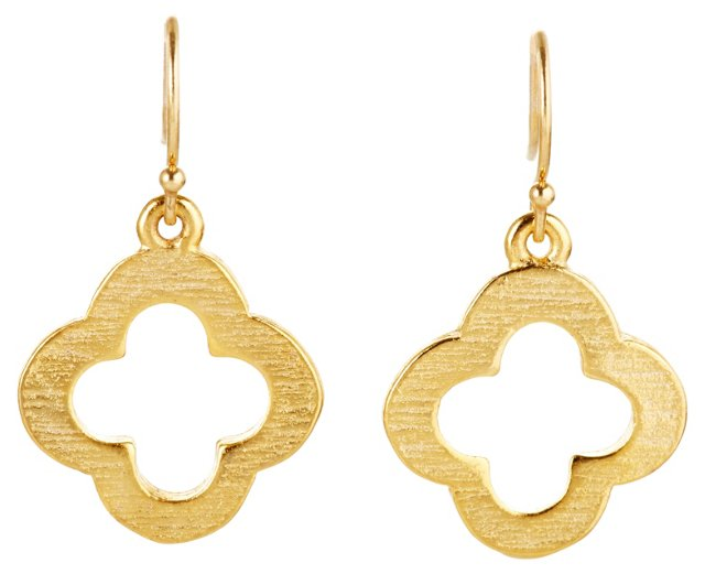 Vermeil Clover Earrings