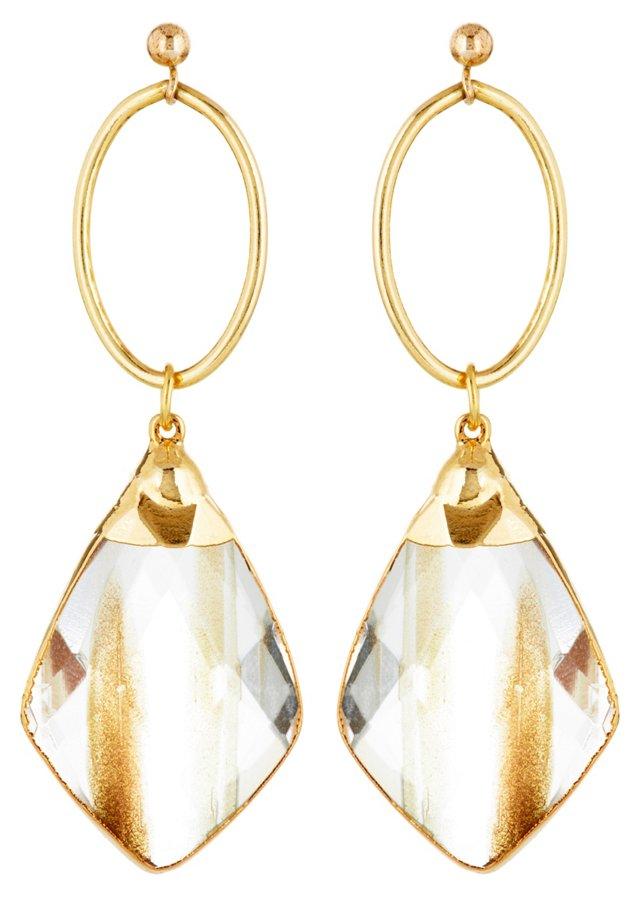 Sunstone Quartz Earrings
