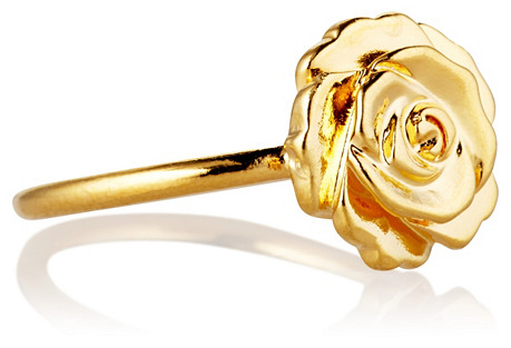 Gold Selda Ring, Gold Plate
