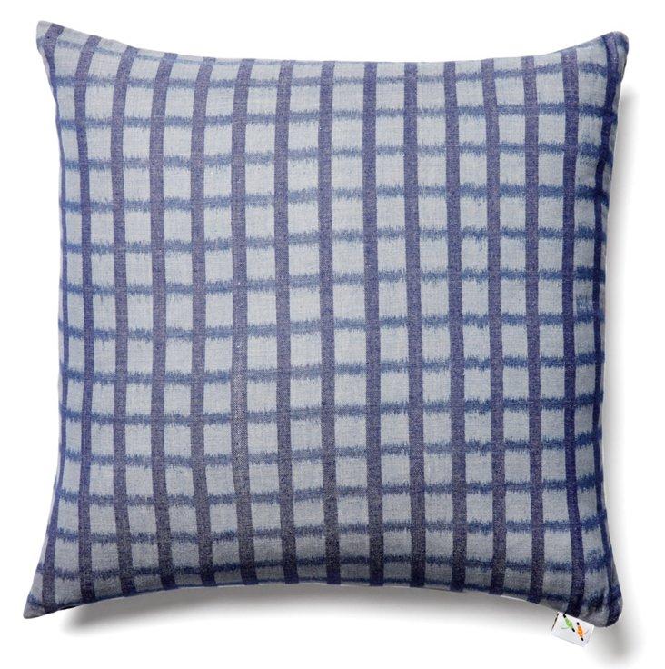 Fields 19x19 Cotton Pillow, Navy