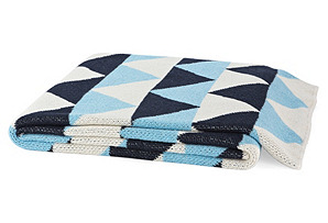Triangle Eco Throw, Sky Blue/Marine