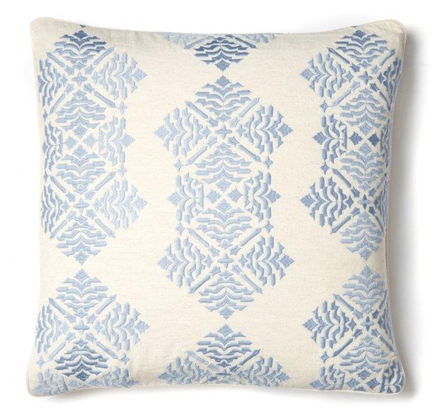 Kirstin 18x18 Cotton-Blend Pillow, Lilac