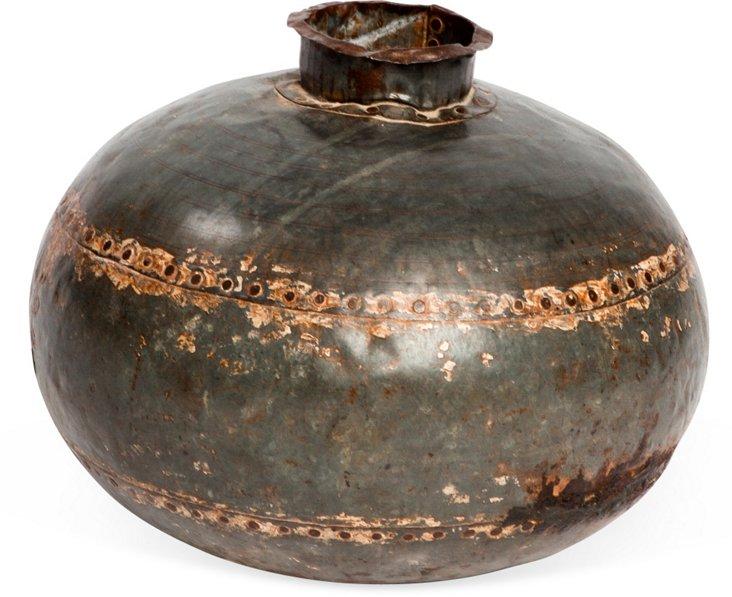 Recycled Metal Vase