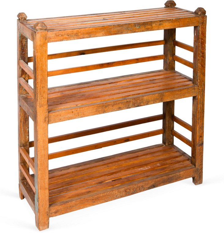 3-Shelf Teak Console