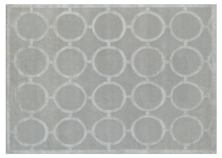 DO NOT USE 8' x 10' Taurus Rug, Silver