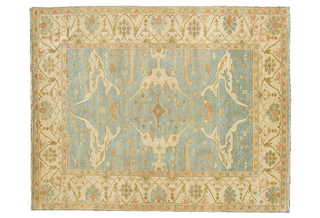 Turkish Oushak Rug, Blue