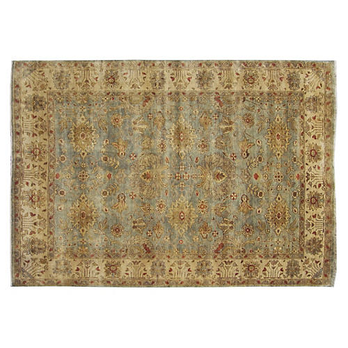 Turkish Oushak Rug, Beige/Multi