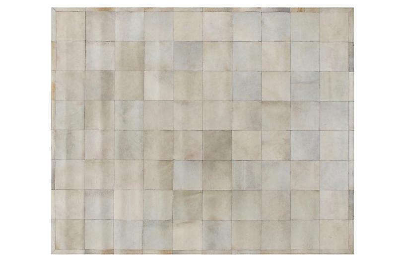 Stitched Blocks Hide, Ivory