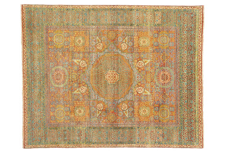 Tabriz Rug, Rust/Green