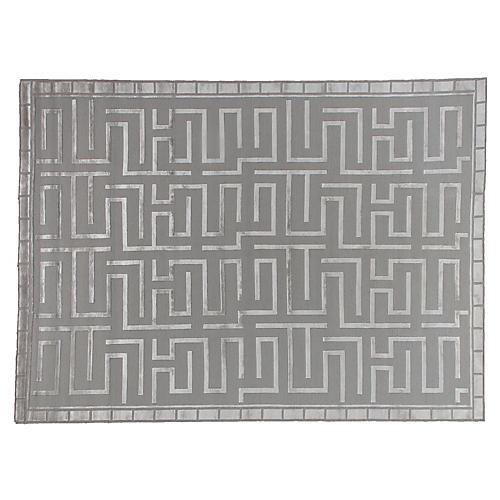 Velvet Maze Rug, Silver