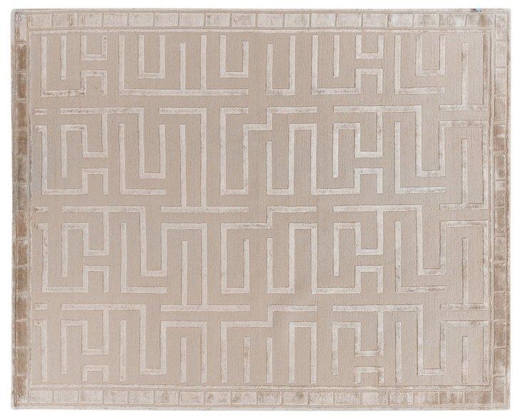 Velvet Maze Rug, Beige